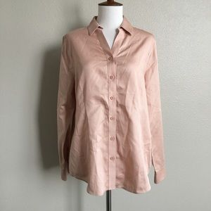 CHICOS Pink Button Down Shirt Top